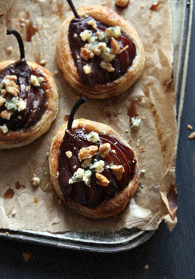 Red Wine Poached Pear Tartlets 1