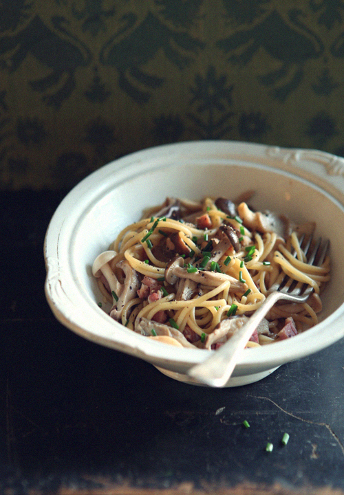 Spaghetti with Mushrooms and Soy Sauce_1