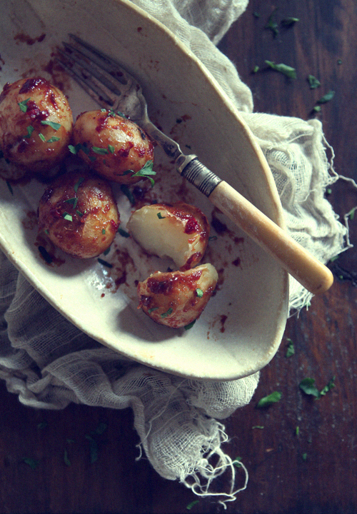 Spicy Sweet Miso Glaze Baby Potatoes_2